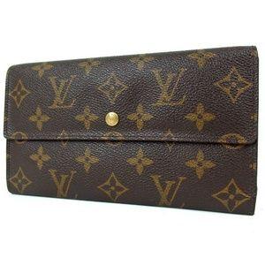 Auth LOUIS VUITTON Porteufeille Wallet 376L1062